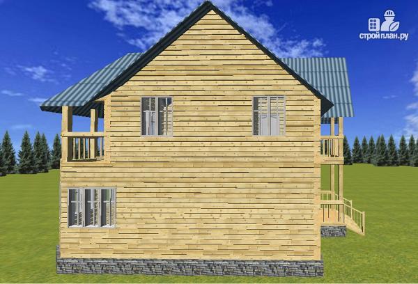 Фото 7: проект дом из бруса 7х9 с эркерами и балконами