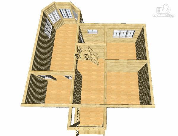 Фото 12: проект дом из бруса 7х9 с эркерами и балконами