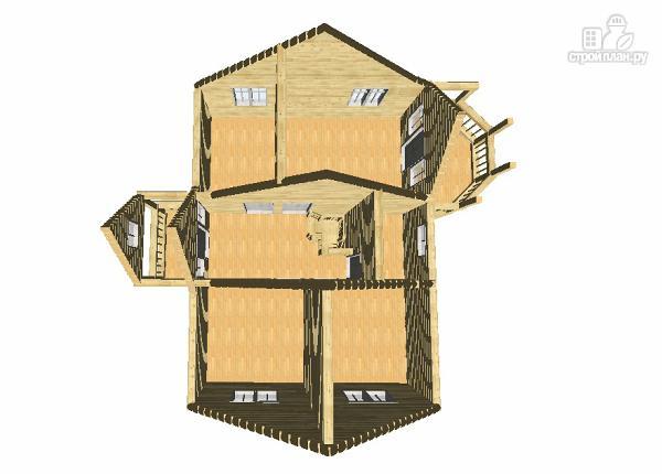 Фото 14: проект дом из бруса 7х9 с эркерами и балконами