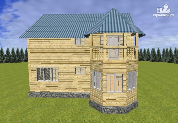 Фото 5: проект дом из бруса 7х9 с эркерами и балконами