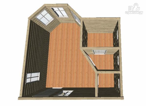Фото 9: проект баня из бруса 6х6 с эркером