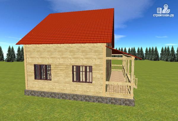 Фото 7: проект дом из бруса 7х9 с большой летней террасой