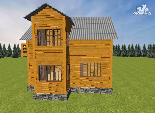Фото 3: проект дом из бруса 7.5х8