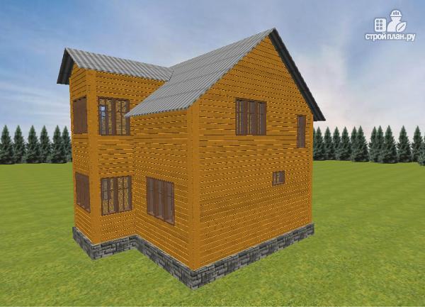 Фото 4: проект дом из бруса 7.5х8