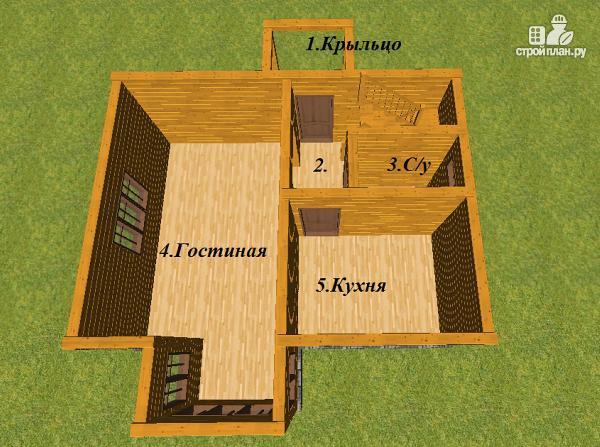 Фото 8: проект дом из бруса 7.5х8