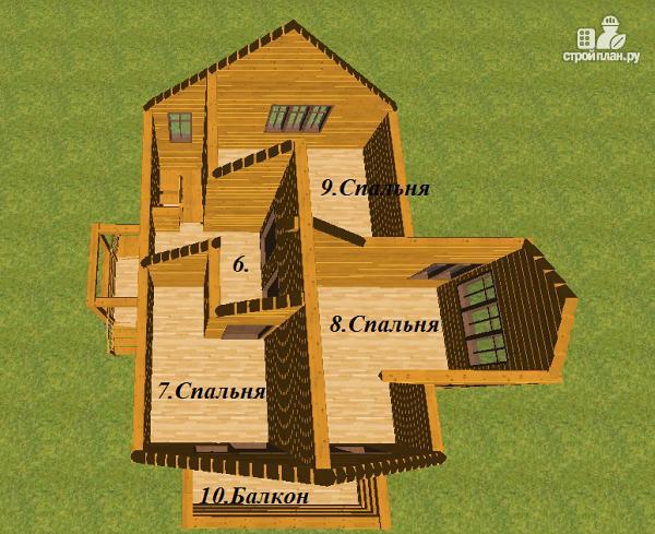 Фото 10: проект дом из бруса 7.5х8