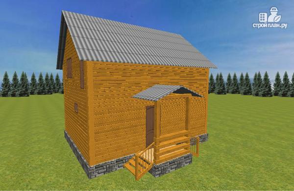 Фото 5: проект дом из бруса 7.5х8