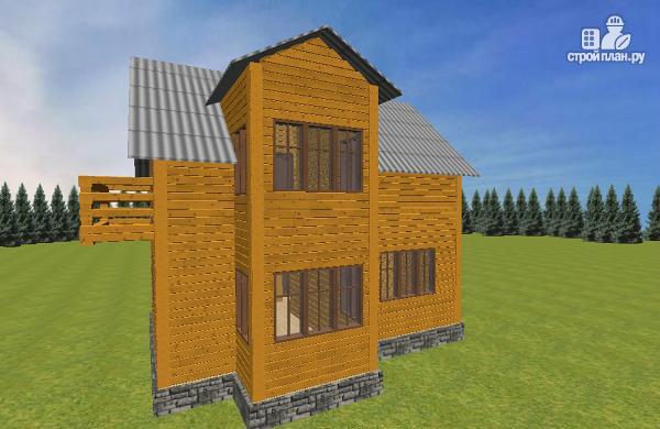 Фото 2: проект дом из бруса 7.5х8