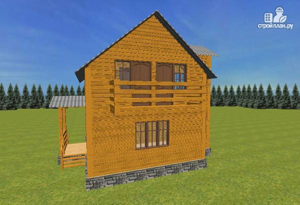 Фото 6: проект дом из бруса 7.5х8