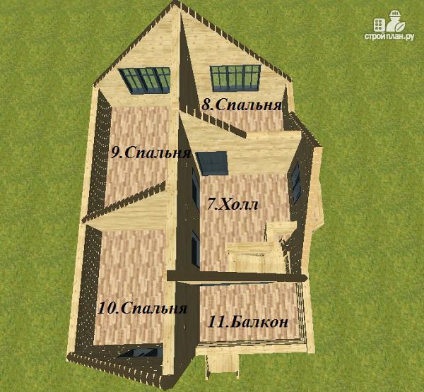 Фото 11: проект дом из бруса с эркером и балконом