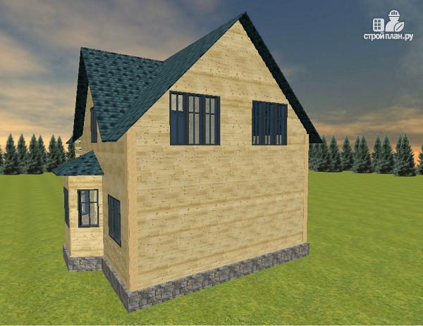 Фото 6: проект дом из бруса с эркером и балконом