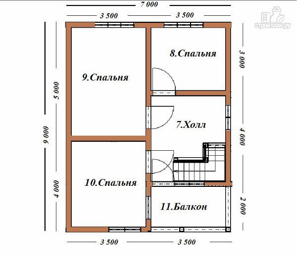 Фото 10: проект дом из бруса с эркером и балконом