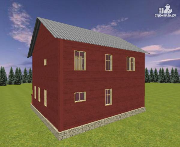 Фото 5: проект дом из бруса с эркером 8х9