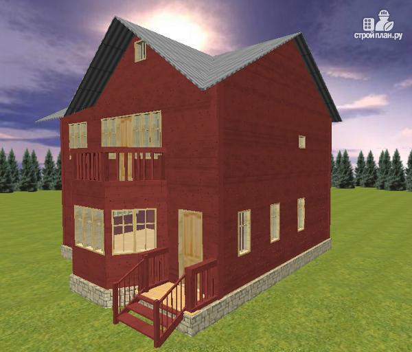 Фото 4: проект дом из бруса с эркером 8х9