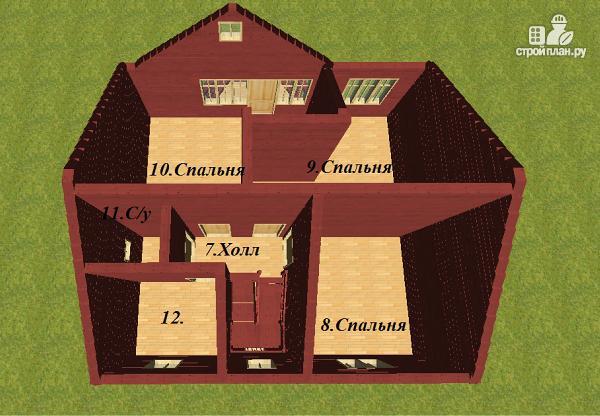 Фото 11: проект дом из бруса с эркером 8х9