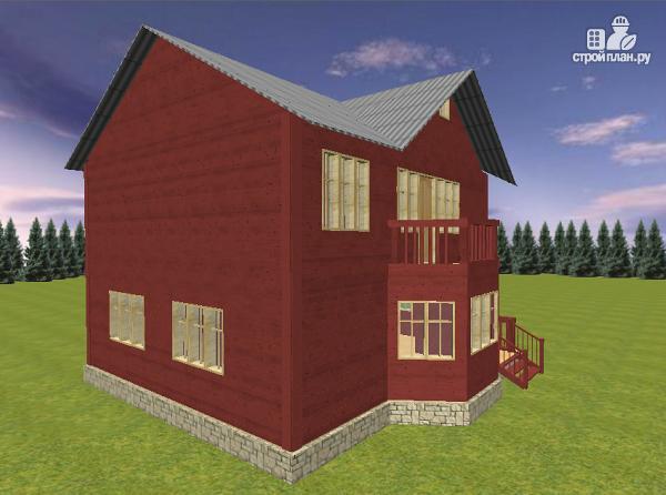 Фото 7: проект дом из бруса с эркером 8х9