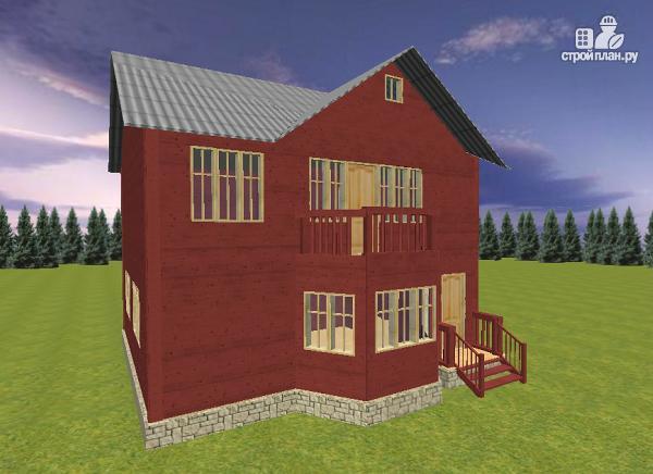 Фото 3: проект дом из бруса с эркером 8х9