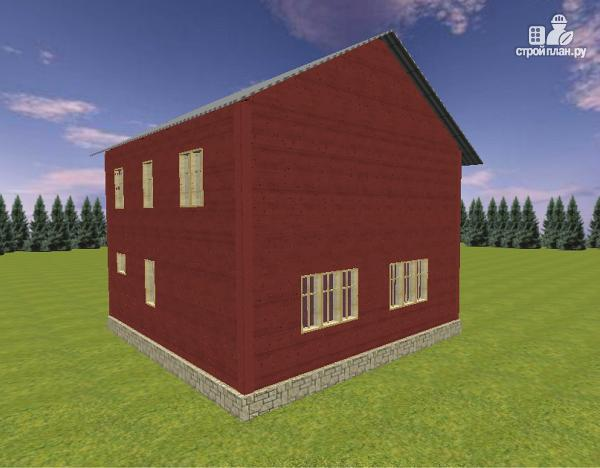 Фото 6: проект дом из бруса с эркером 8х9