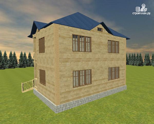 Фото 4: проект дом из бруса 8х8 двухэтажный