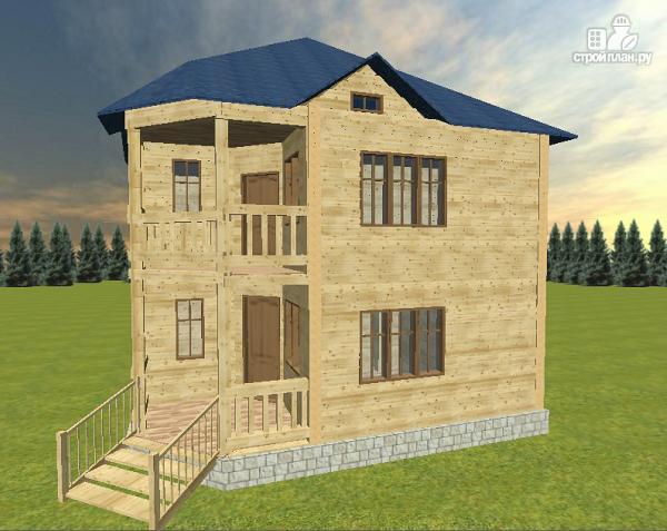 Фото 2: проект дом из бруса 8х8 двухэтажный