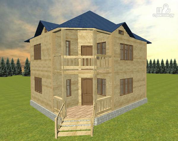 Фото 3: проект дом из бруса 8х8 двухэтажный