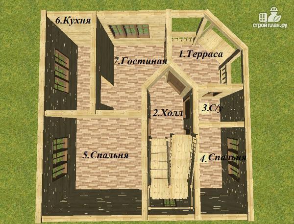 Фото 6: проект дом из бруса 8х8 двухэтажный