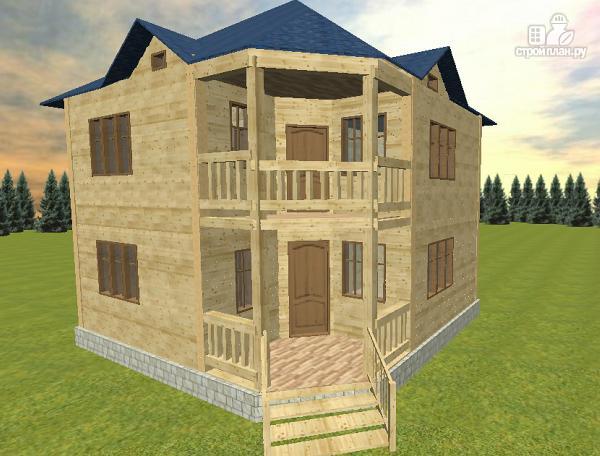 Фото: проект дом из бруса 8х8 двухэтажный
