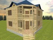 Фото: дом из бруса 8х8 двухэтажный