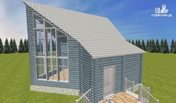 Фото 7: проект дом из бруса со вторым светом 6х8