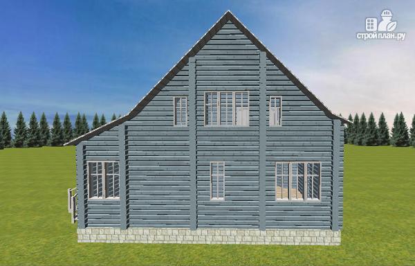 Фото 4: проект дом из бруса со вторым светом 6х8