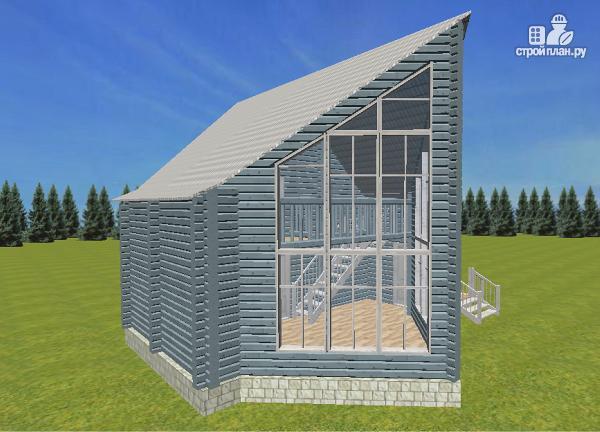 Фото: проект дом из бруса со вторым светом 6х8