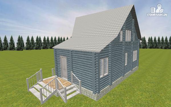 Фото 5: проект дом из бруса со вторым светом 6х8