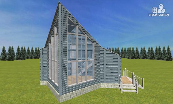 Фото 2: проект дом из бруса со вторым светом 6х8