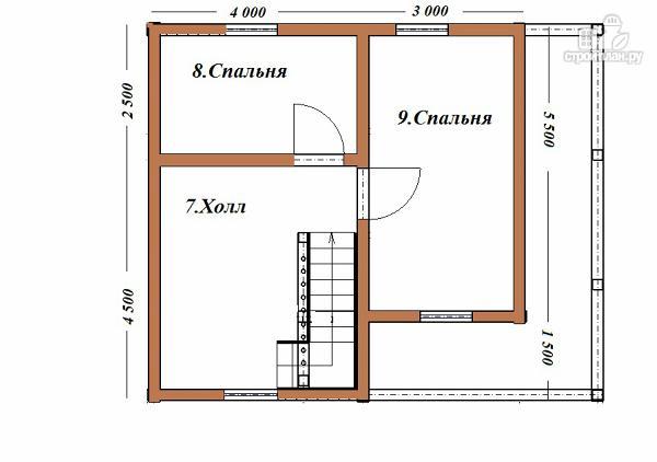 Фото 10: проект дом из бруса 7х8 с летней террасой