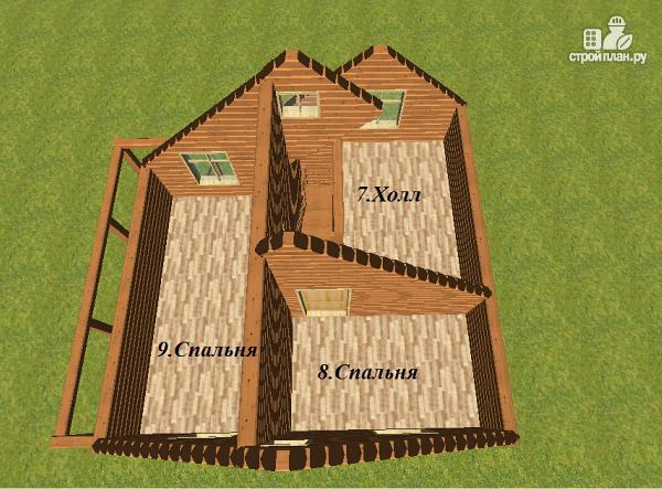 Фото 11: проект дом из бруса 7х8 с летней террасой