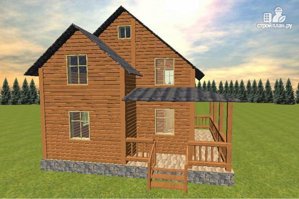 Фото 4: проект дом из бруса 7х8 с летней террасой