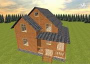 Фото: дом из бруса 7х8 с летней террасой