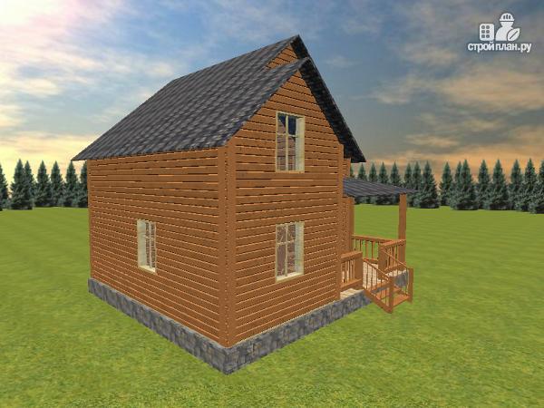 Фото 7: проект дом из бруса 7х8 с летней террасой