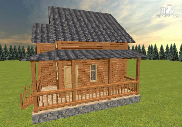 Фото 5: проект дом из бруса 7х8 с летней террасой