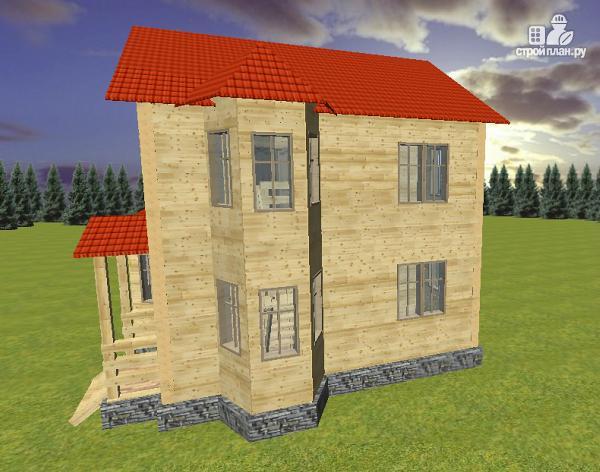 Фото 4: проект дом из бруса 7х8 с двумя эркерами
