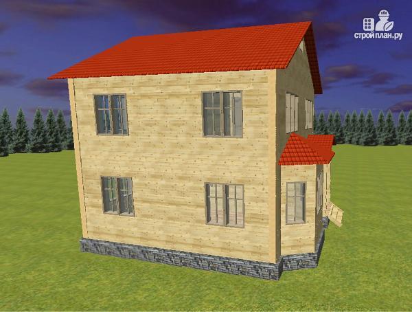 Фото 6: проект дом из бруса 7х8 с двумя эркерами