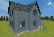 Проект двухэтажный дом из бруса 7х9