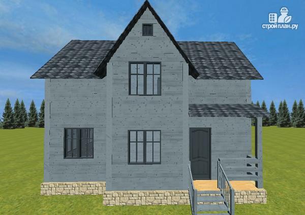 Фото 2: проект двухэтажный дом из бруса 7х9