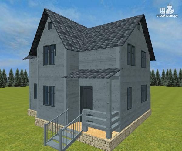 Фото 3: проект двухэтажный дом из бруса 7х9
