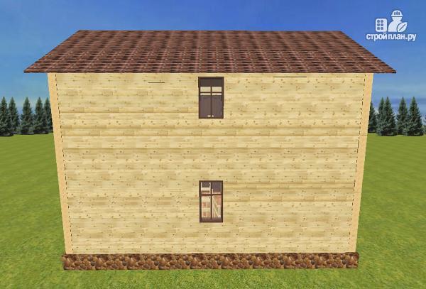 Фото 7: проект дом из бруса с эркерами и балконом