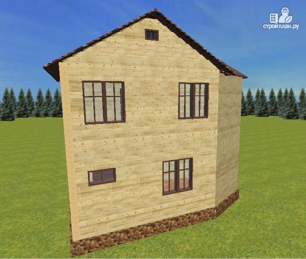 Фото 8: проект дом из бруса с эркерами и балконом