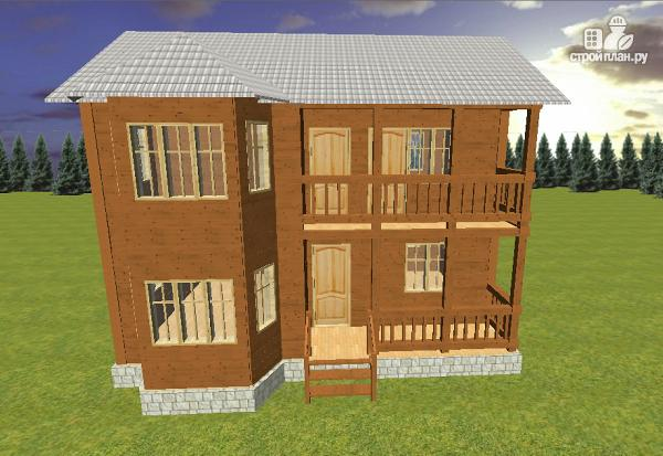 Фото 4: проект дом из бруса 7х9 с эркером и балконом