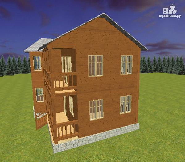 Фото 5: проект дом из бруса 7х9 с эркером и балконом