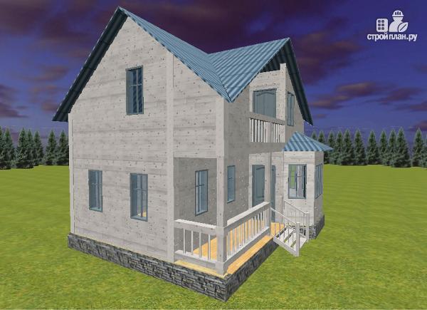 Фото 7: проект дом из бруса 7х9 с эркерами и балконом