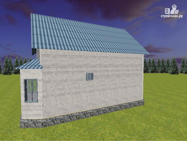 Фото 6: проект дом из бруса 7х9 с эркерами и балконом